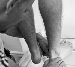 Framtagning av ortopediska fotbäddar
