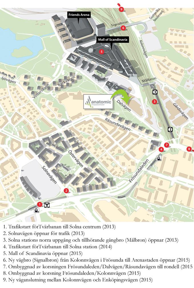 Nya trafiklösningar i Arenastaden